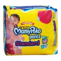 MAMYPOKO PANTS STYLE DIAPER STANDARD LARGE  9-14KG 17.00 Pcs Packet
