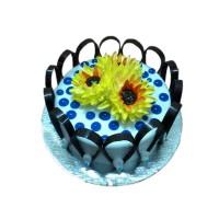 BLUE FLORAL CAKE 3 KG